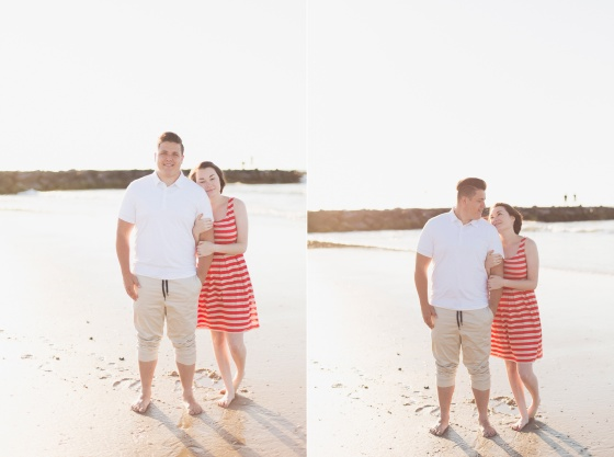 Fun Romantic Fourth of July Seaside Engagement Session
